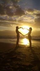 My children on the Sunshine Coast, playing with the Sun :)